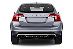 Straight rear view of 2017 Volvo S60 T5 Platinum 4 Door Sedan stock images