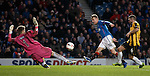 Dean Shiels fires past East Fife keeper Greg Paterson to score his second goal of the match for Rangers