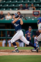 Lakeland Flying Tigers right fielder Ben Verlander (32) follows through on a swing during the first game of a doubleheader against the St. Lucie Mets on June 10, 2017 at Joker Marchant Stadium in Lakeland, Florida.  Lakeland defeated St. Lucie 6-5 in fourteen innings.  (Mike Janes/Four Seam Images)