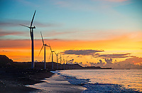 This environmental project is the first wind Farm in the Philippines consisting of wind turbines on-shore facing the South China Sea and considered to be the biggest in Southeast Asia.