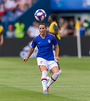 PARIS,  - JUNE 28: Ali Krieger #11 warms up during a game between France and USWNT at Parc des Princes on June 28, 2019 in Paris, France.