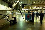12 gennaio 2012, ore 12,04,Genova Sestri, Piaggioaero <br /> operatori eseguono test di collaudo a terra del velivolo P. 180 Avanti II