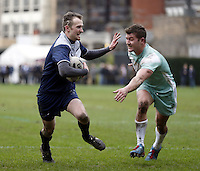 Match action during the Pcubed Rugby League Varsity game between Oxford and Cambridge University at the HAC Ground, London, on Fri March 3, 2017
