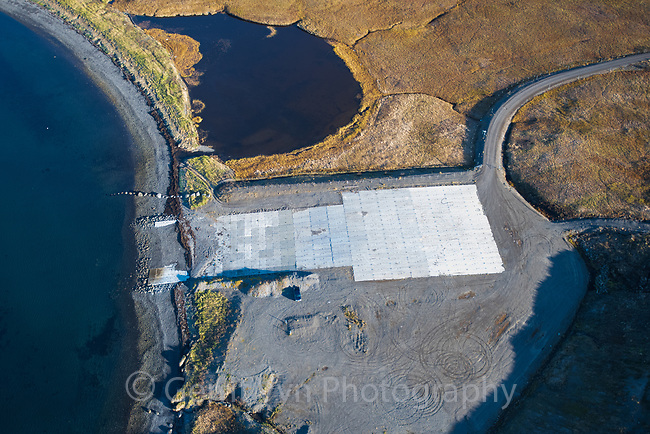 Abandoned hovercraft terminal built for medial evacuations from King Cove to Cold Bay, Alaska.