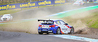 30th August 2020; Knockhill Racing Circuit, Fife, Scotland; Kwik Fit British Touring Car Championship, Knockhill, Race Day; Stephen Jelley sends gravel and dust into the air during round 11 of the BTCC