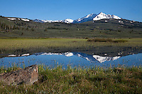 Swan Lake marshes are flooded in the spring runoff. A natural occurrence which actually nourishes the micro ecosystem of the area.<br />