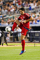 Milan Bisevac (4) of Paris Saint-Germain. Chelsea FC and Paris Saint-Germain played to a 1-1 tie during a 2012 Herbalife World Football Challenge match at Yankee Stadium in New York, NY, on July 22, 2012.