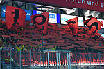 Choreographie der Düsseldorfer Fans vor dem Spiel beim Spiel in der DEL, ERC Ingolstadt (dunkel) - Duesseldorfer EG (hell).<br /> <br /> Foto © PIX-Sportfotos *** Foto ist honorarpflichtig! *** Auf Anfrage in hoeherer Qualitaet/Aufloesung. Belegexemplar erbeten. Veroeffentlichung ausschliesslich fuer journalistisch-publizistische Zwecke. For editorial use only.