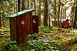 Outhouse on Shuyak Island, Alaska