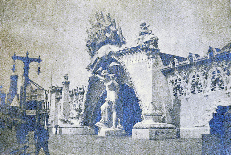 St Louis MO:  A view of the creation exhibit along the Pike at the Louisiana Purchase Exposition