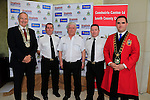 Oliver Tully Chair Louth County Council, Paul O'Neill, Ger Hegarty SAR operations manager Irish Coast Guard, Dermot McConnoran Officer in Charge Drogheda Unit Irish Coast Guard and Mayor Kevin Callan at the Launch of the Irish maritime festival in the d Hotel.<br /> Picture Fran Caffrey/Newsfile