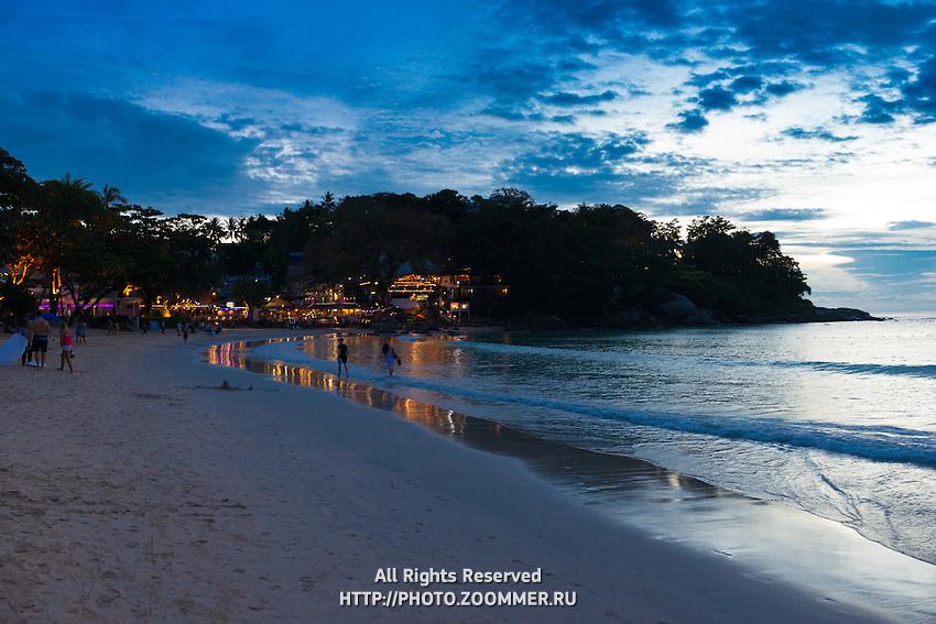 Beautiful sunset scene at Kata beach, Phuket, Thailand