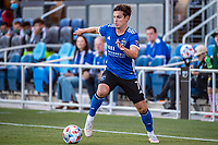 SAN JOSE, CA - MAY 15: Carlos Fierro #7 of the San Jose Earthquakes controls the ball during a game between San Jose Earthquakes and Portland Timbers at PayPal Park on May 15, 2021 in San Jose, California.