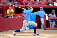 Third baseman PJ Higgins (7) of the Old Dominion Monarchs in an NCAA Division I Baseball Regional Tournament game against the Maryland Terrapins on Friday, May 30, 2014, at Carolina Stadium in Columbia, South Carolina. Maryland won, 4-3. (Tom Priddy/Four Seam Images)