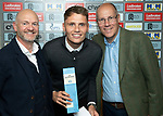 St Johnstone Player of the Year Awards Season 2018/2019, Dewars Centre, Perth 18.05.19<br />Cherrybank Blues Player of the Year Award is presented to Jason Kerr by Steve Bissett (left) and Colin Mackay<br />Picture by Graeme Hart.<br />Copyright Perthshire Picture Agency<br />Tel: 01738 623350  Mobile: 07990 594431