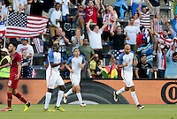 Kansas City, KS. - May 28, 2016: The U.S. Men's national team take a 2-0 lead over Bolivia in first half action from a goal by John Brooks during an international friendly tuneup match prior to the opening of the 2016 Copa America Centenario at Children's Mercy Park.