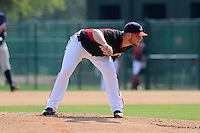 Pitcher Craig Kimbrel (11) of the Atlanta Braves pitches in a Minor League Spring Training intrasquad game on Wednesday, March 18, 2015, at the ESPN Wide World of Sports Complex in Lake Buena Vista, Florida. (Tom Priddy/Four Seam Images)