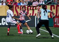 Tobin Heath, Daniela Cruz, Erica Miranda.  The USWNT defeated Costa Rica, 8-0, during a friendly match at Sahlen's Stadium in Rochester, NY.