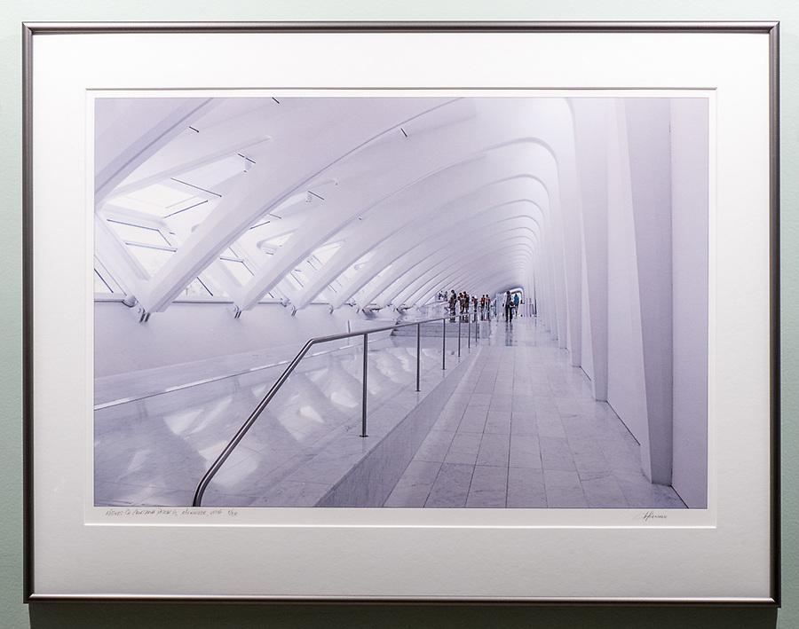 """Framed Size 20""""h x 26""""w, $525<br /> Graphite Nielsen 15 metal frame"""