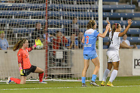 Chicago, IL - Wednesday Sept. 07, 2016: Alyssa Naeher, Arin Gilliland, Frances Silva during a regular season National Women's Soccer League (NWSL) match between the Chicago Red Stars and FC Kansas City at Toyota Park.