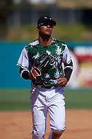 Lake Elsinore Storm center fielder Jeisson Rosario (6) during a California League game against the Inland Empire 66ers on April 14, 2019 at The Diamond in Lake Elsinore, California. Lake Elsinore defeated Inland Empire 5-3. (Zachary Lucy/Four Seam Images)