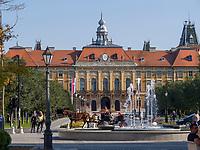 kroatische Minderheit, Rathaus in Sombor, Vojvodina, Serbien, Europa<br /> Croatian Minority, City Hall,  Sombor, Vojvodina, Serbia, Europe