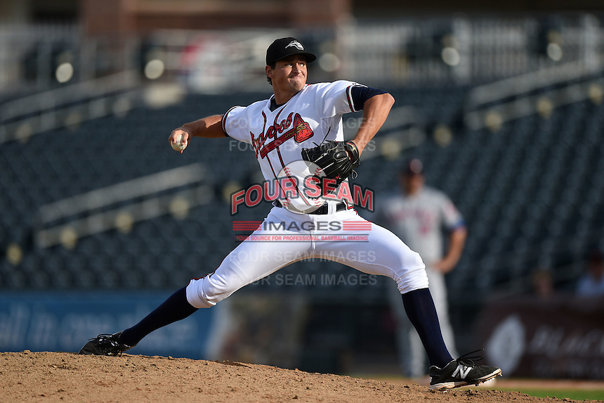 Peoria Javelinas pitcher Ryne Harper (39) during an Arizona Fall League game against the Scottsdale Scorpions on October 18, 2014 at Surprise Stadium in Surprise, Arizona.  Peoria defeated Scottsdale 4-3.  (Mike Janes/Four Seam Images)