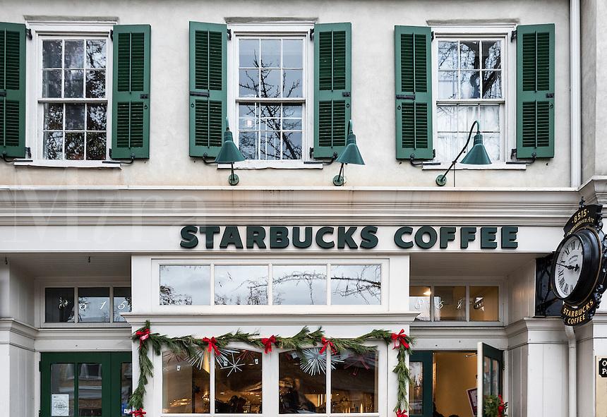 Starbucks coffee shop, Chestnut Hill, Pennsylvania, USA