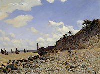 Claude Monet - Seaside at Honfleur (1864). Los Angeles, Los Angeles County Museum of Art.