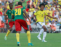 Colombia's Juan Guillermo Cuadrado (r) and Cameroon's Jonathan Ngwemi (l) and Karl Toko Ekambi during international friendly match. June 13,2017.(ALTERPHOTOS/Acero) (NortePhoto.com) (NortePhoto.com)