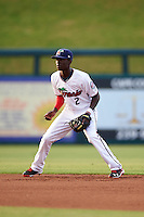 Fort Myers Miracle shortstop Nick Gordon (2) during a game against the Brevard County Manatees on April 13, 2016 at Hammond Stadium in Fort Myers, Florida.  Fort Myers defeated Brevard County 3-0.  (Mike Janes/Four Seam Images)