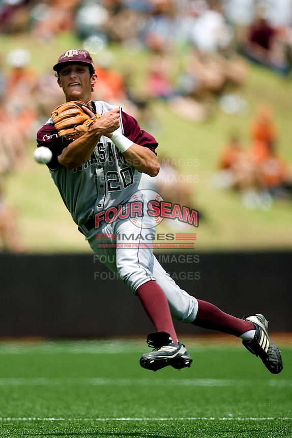 Smith, Adam 0441.jpg.  Big 12 Baseball game with Texas A&M Aggies at Texas Lonhorns  at UFCU Disch Falk Field on May 9th 2009 in Austin, Texas. Photo by Andrew Woolley.