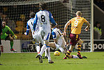 Motherwell v St Johnstone…06.02.18…  Fir Park…  SPFL<br />Curtis Main scores Motherwell's second goal<br />Picture by Graeme Hart. <br />Copyright Perthshire Picture Agency<br />Tel: 01738 623350  Mobile: 07990 594431