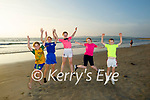 Enjoying the evening Indian Summer sun on Banna beach with a jump for joy after school on Monday evening, l to r; Lexie Keane (Tralee), Sophie Constable (Tralee), Courtney Hunt (Athea), Kate Murnane (Kilflynn) and Aaron Hunt (Athea).