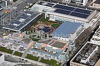aerial photograph Moscone Convention Center San Francisco and Zeum museum