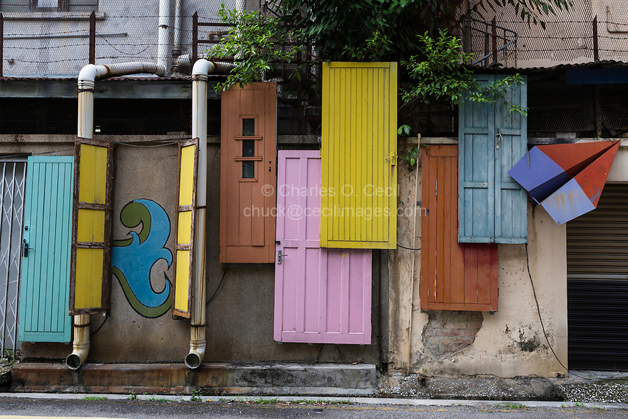 Artistic Decorations on Buildings, Ipoh, Malaysia.