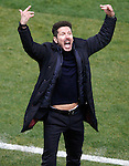 Atletico de Madrid's coach Diego Pablo Cholo Simeone celebrates goal during Spanish Kings Cup semifinal 1st leg match. February 01,2017. (ALTERPHOTOS/Acero)
