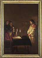 Full title: Christ before the High Priest<br /> Artist: Gerrit van Honthorst<br /> Date made: about 1617<br /> The National Gallery, London