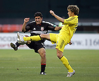 7 May 2005.  DC United's Alecko Eskandarian (11) collides with Danny Szetela (17) of Columbus at RFK Stadium in Washington, DC.