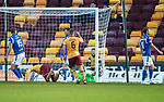Motherwell v St Johnstone…..30.11.19   Fir Park   SPFL<br />Devante Cole scores for Motherwell<br />Picture by Graeme Hart.<br />Copyright Perthshire Picture Agency<br />Tel: 01738 623350  Mobile: 07990 594431