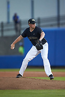 Wake Forest Demon Deacons relief pitcher Chris Farish (32) in action against the Florida Gators in Game Three of the Gainesville Super Regional of the 2017 College World Series at Alfred McKethan Stadium at Perry Field on June 12, 2017 in Gainesville, Florida. The Gators defeated the Demon Deacons 3-0 to advance to the College World Series in Omaha, Nebraska. (Brian Westerholt/Four Seam Images)