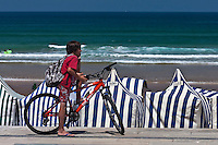Europe/Espagne/Pays Basque/Guipuscoa/Pays Basque/Zarautz: La plage de Zarautz
