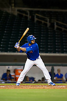 AZL Cubs right fielder Jeffrey Baez (28) at bat against the AZL White Sox on August 13, 2017 at Sloan Park in Mesa, Arizona. AZL White Sox defeated the AZL Cubs 7-4. (Zachary Lucy/Four Seam Images)