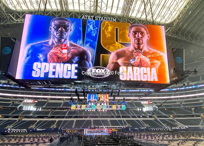 ARLINGTON, TX - DECEMBER 5: Errol Spence Jr. v Danny Garcia Fox Sports PBC Pay-Per-View fight night at AT&T Stadium in Arlington, Texas on December 5, 2020. (Photo by Frank Micelotta/Fox Sports)