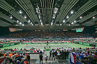 01-02-14,Czech Republic, Ostrava, Cez Arena, Davis Cup Czech Republic vs Netherlands, Overall view<br /> <br /> Photo: Henk Koster