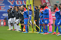 Crystal Palace and Fulham ahead of the Premier League behind closed doors match between Crystal Palace and Fulham at Selhurst Park, London, England on 28 February 2021. Photo by Vince Mignott / PRiME Media Images.