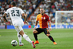 Galatasaray´s Wesley Sneijder during Santiago Bernabeu Trophy match at Santiago Bernabeu stadium in Madrid, Spain. August 18, 2015. (ALTERPHOTOS/Victor Blanco)
