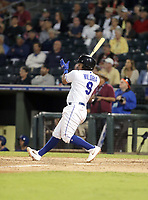 Meibrys Viloria plays in the 2018 Arizona Fall League Fall Stars Game at Surprise Stadium on November 3, 2018 in Surprise, Arizona. The game was won by the West team, 7-6 (Bill Mitchell)