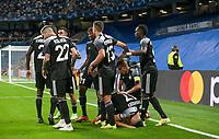 28th September 2021; Estadio Santiago Bernabeu, Madrid, Spain; Men's Champions League, Real Madrid CF versus FC Sheriff Tiraspol; Sheriff players celebrate the 0-1 goal scored by Yakhshiboev in the 25 minute