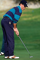 PEBBLE BEACH, CA: Tom Glavine plays golf in the AT&T Pebble Beach National Pro Am in January of 1993. Photo by Brad Mangin